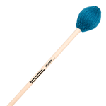 Medium Soft Marimba Mallets - Teal Yarn - Natural Handles